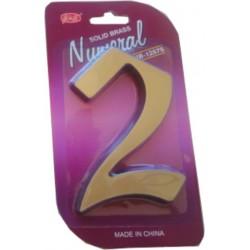 """Číslo fasádne """" 2 """" bronz 125mm"""