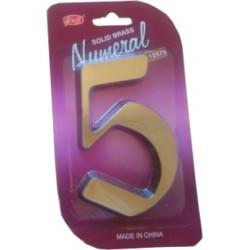 """Číslo fasádne """" 5 """" bronz 125mm"""
