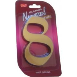 """Číslo fasádne """" 8 """" bronz 125mm"""