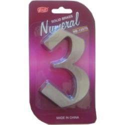 """Číslo fasádne """" 3 """" Ni-sat 125mm"""