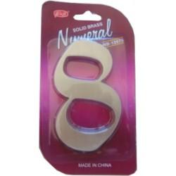"""Číslo fasádne """" 8 """" Ni-sat 125mm"""