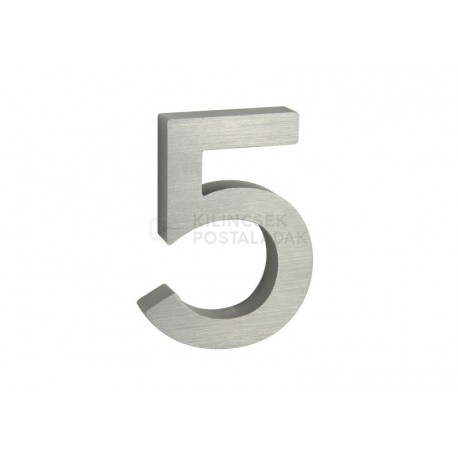"""Číslo """"5"""" 3D 100mm Al"""