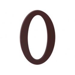 """domove číslo 175mm hnedé """"0"""""""