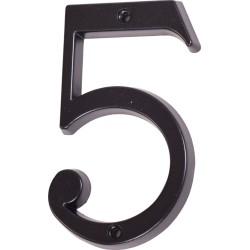"Číslo "" 5 "" čierne 100mm"