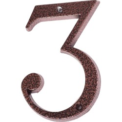 "Číslo "" 3 "" medený antik 120mm"