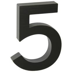 """Číslo """" 5 """" 3D čierne 100mm"""