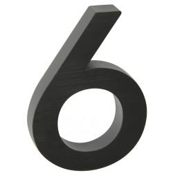 """Číslo """" 6 """" 3D čierne 100mm"""