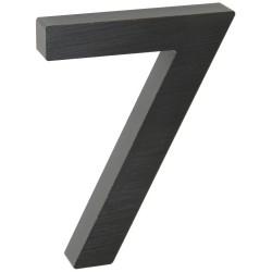"""Číslo """" 7 """" 3D čierne 100mm"""
