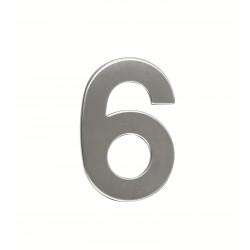 """Číslica """"6"""" 95mm nerez"""