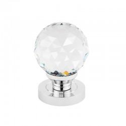 CRYSTAL guľa s okrúhlym štítom biela