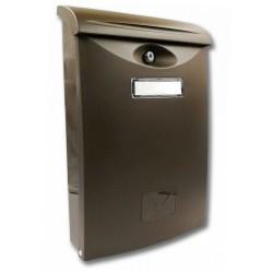 ABS 3 hnedá poštová schránka plast