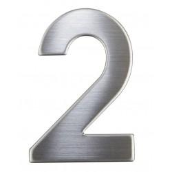 """Číslica """"2"""" 75mm nerez"""