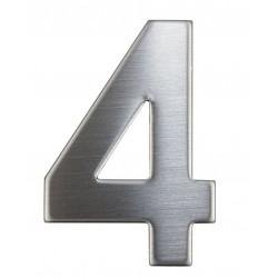 """Číslica """"4"""" 75mm nerez"""