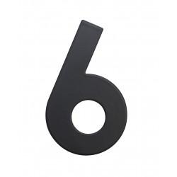"""RN.75L číslo """"6"""" 75 mm čierné matné"""