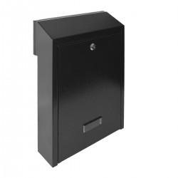 W3 poštová schránka čierna