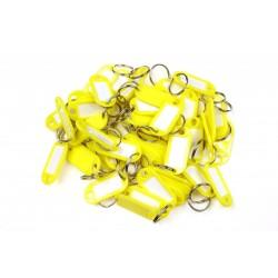 Műanyag kulcscímke egyoldalas / szett 50db sárga / RJ.48.ZLU.50KS