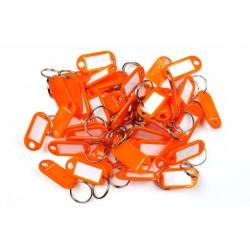 Műanyag kulcscímke egyoldalas / szett 50db narancs / RJ.48.ORG.50KS