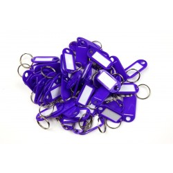 Műanyag kulcscímke egyoldalas / szett 50db lila / RJ.48.FIA.50KS