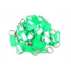 Műanyag kulcscímke egyoldalas / szett 50db zöld / RJ.48.ZEL.50KS