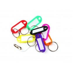 Műanyag kulcscímke egyoldalas / szett 8db / RVR.RJ.48.MIX.8KS