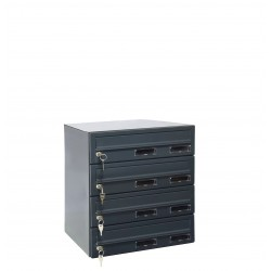 M37/4 RAL7016 modulos postaláda
