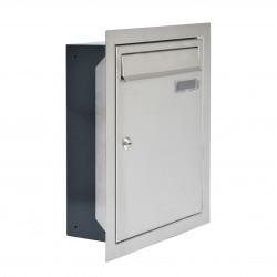 W4 beépíthető postaláda RAL7016 / rozsdamentes