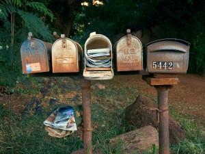 A postaládák története
